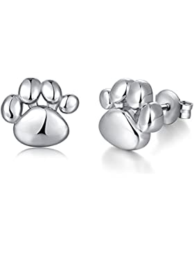 jiamiaoi Damen Mode Pfoten Ohrringe,Hund Pfoten Ohrringe,Klein Katze Pfoten Ohrringe - 925 Sterling Silber