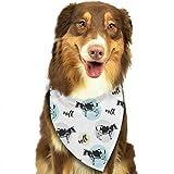 Hipiyoled Kühe-Muster-Mode-Nette lustige Party-Mädchen-Jungen-Hundebandana modern