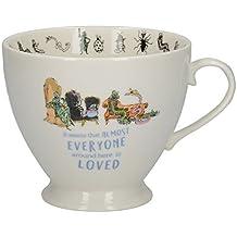 Creative Tops Roald Dahl Fine China Mug with Quentin Blake JAMES AND THE GIANT PEACH Illustration, 450 ml (16 fl oz) - Peach