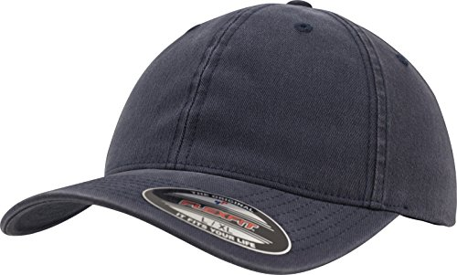 Flexfit Garment Washed Cotton Dad Hat Kappen, Navy, L/XL Washed Cotton Twill Cap