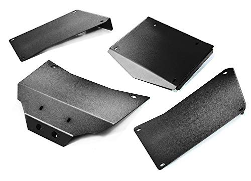Integy RC Model Hop-ups C27003BLACK Aluminum Alloy Body Panel Kit for Axial 1/10 RR10 Bomber 4WD Us-bomber