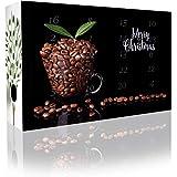 C&T Entkoffeinierter Kaffee-Adventskalender 2019 mit 2 x 12 koffeinfreien Kaffees à 35 g für je 1l aus Aller Welt (Ganze Bohnen) - Kaffeebohnen ohne Koffein für Premium-Genuss - Weihnachts-Kalender für Erwachsene - Cafe Espressobohnen Geschenkset