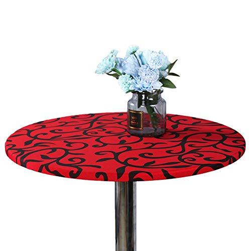 stisch Rund Angepasst Staubfrei Bedruckt Innen Außen Party Schreibtisch Deckel Waschbar Wohndeko Simpel Schutz Esszimmer Küche - Rot, free size ()