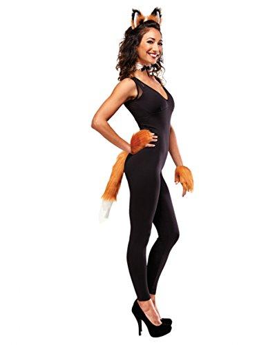 Fuchs Dame Kostüm Set 5-tlg Spitze (Erwachsene Kostüm Fuchs)
