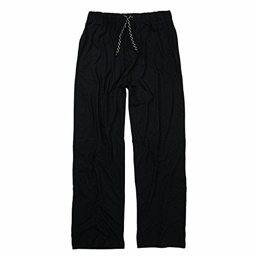 ADAMO Schwarze, Lange Schlafhose Übergrößen bis 10XL, Größe:4XL