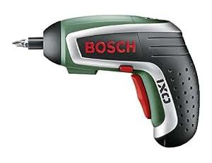 """Bosch IXO Gourmet Akkuschrauber """"Easy"""" + Korkenzieheraufsatz + 10 Standard-Schrauberbits + Ladegerät (30 % mehr Kraft, 0,3 kg, 3,6 V)"""