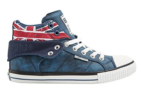 British Knights Hi-Cut Sneaker ROCO 46 EU,  Blue/Union Jack