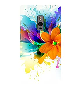 Beautiful Flower Pattern 3D Hard Polycarbonate Designer Back Case Cover for OnePlus 2 :: OnePlus Two :: One +2