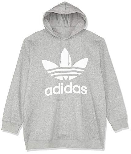 adidas Damen BF Trefoil Hoodie, Grau (Medium Grey Heather), 36