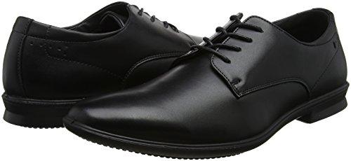 Hush Puppies Cale Plain Toe, Zapatos de Cordones Oxford para Hombre, Negro (Black), 42 EU