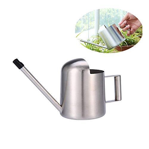 Plenmor Mini Arrosoir pour Plantes en intérieur, Acier Inoxydable Arrosoir Arrosoir Moderne avec Long Bec verseur pour bonsaï dans la Maison ou Le Bureau pour Kids-11oz/300Ml