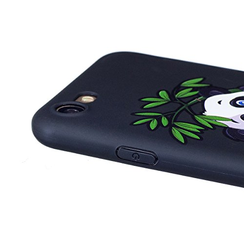 Coque iPhone 7, Étui iPhone 7, ISAKEN Coque pour Apple iPhone 7 - Étui Housse Téléphone Étui TPU Silicone Souple Coque Ultra Mince Gel Doux Housse Motif Arrière Case Antichoc Doux Durable Résistant Au bambou panda
