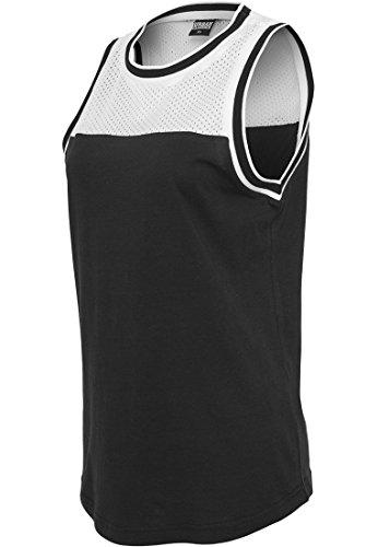 Urban Classics Ladies Mesh Jersey 2-Tone Tank Top Femme noir/blanc noir/blanc
