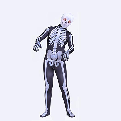 Hero-costume Unisex Skelett Kostüm Kinder Verkleidung Halloween Karneval Kostüm Party Cosplay Kostüm Deluxe Kind Kostüm Jungen,Adult-160CM (Kostüme Deluxe Adult)