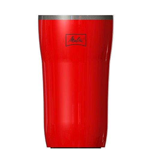 Melitta Mug Isotherme, Fermeture par Pression, 100% Hermétique, 250 ml, Rouge