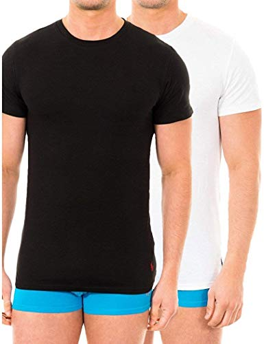 Polo Ralph Lauren Homme 2 Pack Stretch Cotton T-Shirts, Multicolore, Large