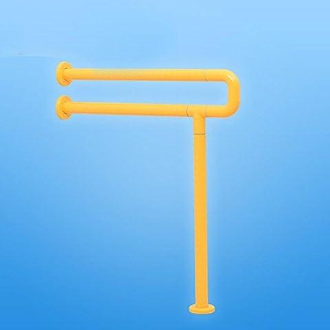 uzi-thanksgiving giorno regalo U pavimento bagno corrimano, Barriera negli anziani, Maniglia per bagno, da parete corrimano Yellow