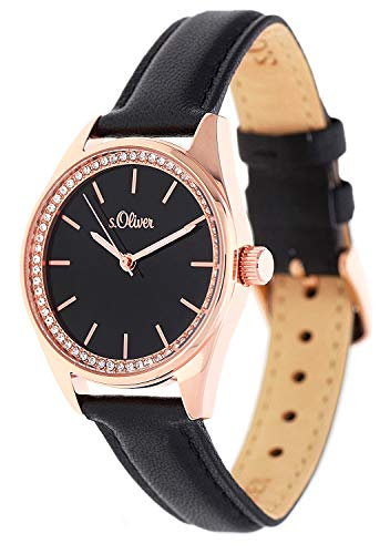 s.Oliver SO-3677-LQ - Orologio da donna in pelle