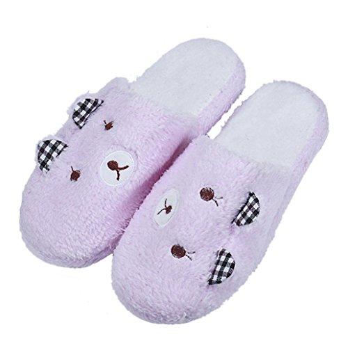 JIANGFU Winnie the Baumwolle Anhänger,Lovely Bear Home Boden Soft Cotton-gepolsterte Pantoffeln Schuhe (40, PK) PK