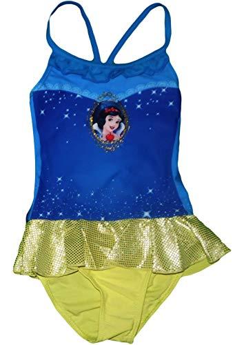 Disney Princess Mädchen Badeanzug Alter von 3 bis 6 Jahre (Gelb, 116) -