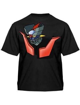 Camiseta Mazinger z (Talla: Talla XXL Unisex Ancho/Largo [60cm/75cm] Aprox], Color: Negro)