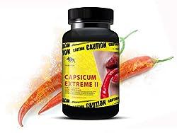 Chilli Fatburner Diät Capsicum Extreme II - 120 Kapseln - Der Orginal Chilli Fatburner - Fatblocker Extreme Diät Unterstützung