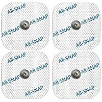 all-snap 4electrodos SNAP, garanti 100% compatibles Compex®–Alto rendimiento y larga duración de vida (4electrodos de 50x 50mm)–ECOnomisez hasta 60% por informe a la original.