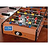 X-Zini Mid-Sized Football Table Soccer Game with 4 Rods