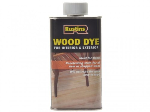 Rustins 5015332650064 Wood Dye - Light Oak