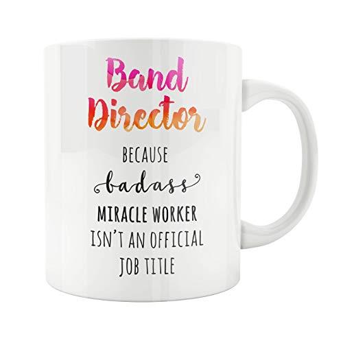 Lplpol Ceramic Tea Cup, Band Director Mug, Gift for Director, Future Band Director, Awesome Band Director, Theater Director, Movie Director, Film Director Badass, 11 Oz Mug Band Demitasse Cup