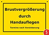 5er-Pack: Postkarte Kunststoff +++ VERBOTENE SCHILDER von modern times +++ BRUSTVERGRÖßERUNG DURCH HANDAUFLEGEN +++ ARTCONCEPT VERBOTENE SCHILDER