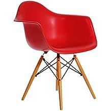 Aryana Home ARYASOM004 - Sillón, réplica de Eames, color rojo
