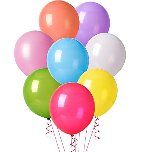 ocballoons Palloncini Colorati per Party, Compleanni, Matrimoni,Cerimonia Addobbi e Decorazione - Palloncini in Lattice conf. 100pz