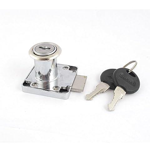 Métal Tête De Cylindre Coffret Sécurité Serrure Pour Tiroir 18mm Diamètre Argent Tone8