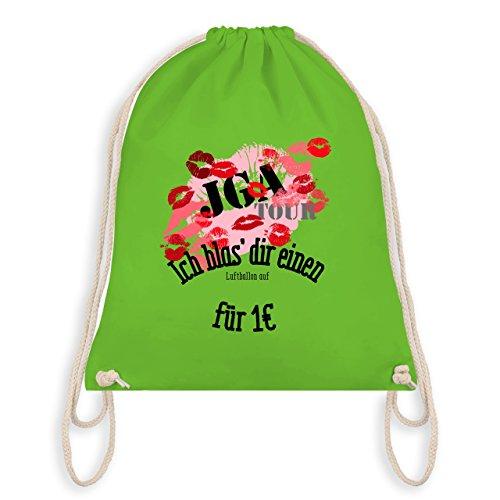 JGA Junggesellinnenabschied - JGA Tour - Ich blas dir einen Luftballon auf - Turnbeutel I Gym Bag Hellgrün