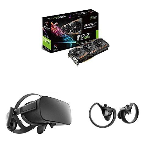 Preisvergleich Produktbild Oculus Rift + Oculus Touch + Asus ROG Strix GeForce GTX1080-8G Gaming Grafikkarte (Nvidia, PCIe 3.0, 8GB DDR5X Speicher, HDMI, DVI, DisplayPort)