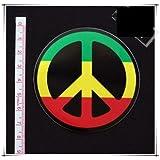 Y la m?sica reggae s?mbolo de paz pegatinas de colores de trama sello de papel resistente al agua - instrumentos musicales Tablet PC (jap?n importaci?n)