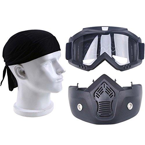 Motorrad Schutzbrille abnehmbar Gesichtsmaske Cool Kopftuch für Winter Warm Outdoor Sport Motorrad Fahrrad Skifahren Snowboarden Dirt Bike Motocross