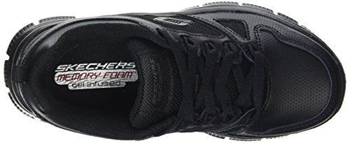 Skechers Flex Advantage, Chaussures de Running Compétition Garçon Noir - Noir