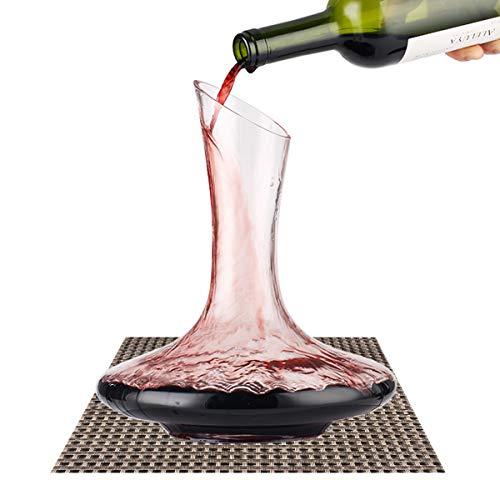Carafe à Décanter, BOQO Carafe à Vin Rouge, Carafe de Décantation Cristal sans Plomb, Aérateur de Vin Accessoires du Vin - 1800ML