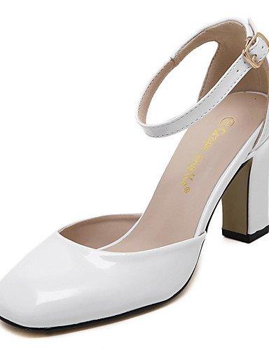 WSS 2016 Chaussures Femme-Mariage / Bureau & Travail / Habillé / Soirée & Evénement-Noir / Rose / Blanc-Gros Talon-Talons / Bout Carré / Bout Fermé black-us5.5 / eu36 / uk3.5 / cn35