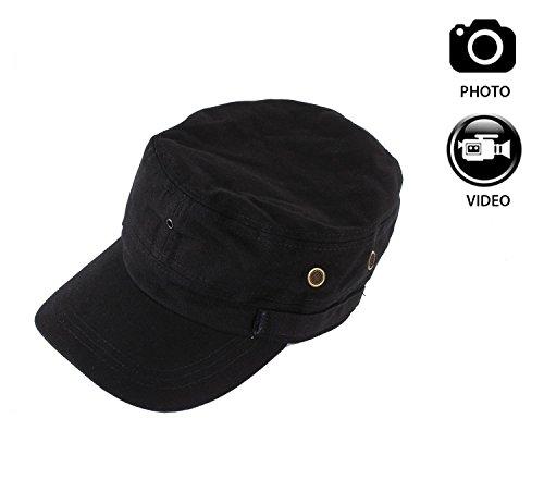 Joycam-Indossabile-sombrero-Capucha-cmara-HD-720P-Grabacin-vdeo-con-mando-a-distancia-para-Sport-al-abierto-Ciclismo-Senderismo-Pesca-negro-2