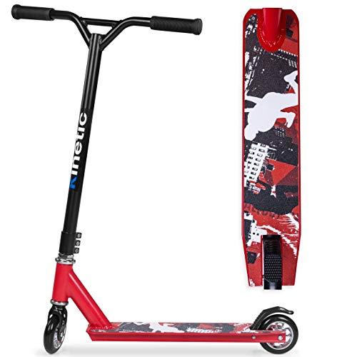 Kinetic Sports Stunt Scooter Freestyle Kickscooter Cityroller bis 100kg Skate-Kick-Roller 100mm Räder 85A-PU Kugellager ABEC 7 Jump