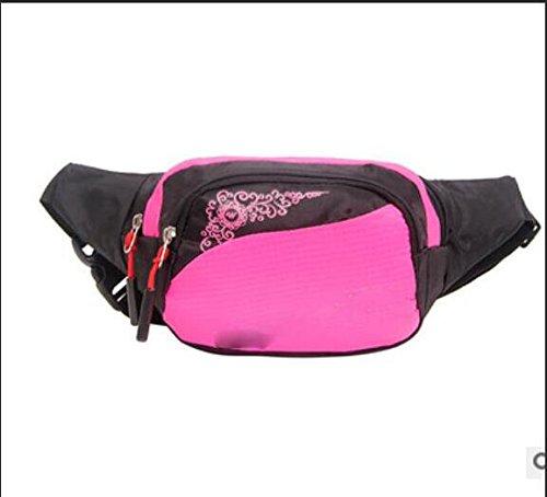 ZYT Taschen Taschen Männer und Frauen Handy Pakete Freizeit Radfahren Taschen Nylon grün Sportpaket Pink