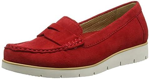Gabor Portland, Mocassins (loafers) femme - Rouge - Red (Red Suede), 38.5 EU