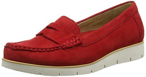 GaborPortland - Mocassini donna , Rosso (Red (Red Suede)), 39 EU