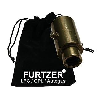 Furtzer LPG GPL Autogas Tankadapter M16 BAJONETT Innengewinde kurz Adapter mit Stoffbeutel by