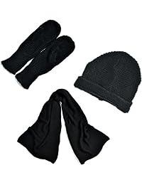 Amazon.es  gorros lana hombre - Negro   Set de bufanda fdd4c1696c7