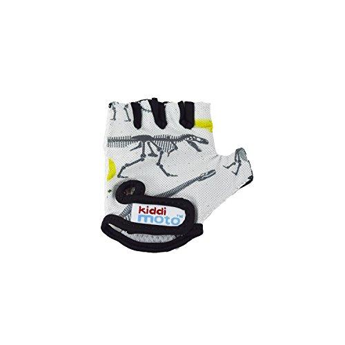 Kiddimoto GLV069S - Fahrrad Skater Handschuhe für Kinder Fossil, Gr.S (2-5 Jahre)