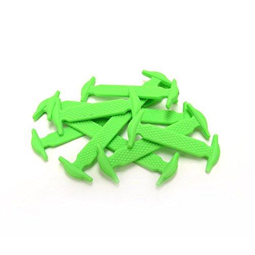 MX coloré sans lacets de chaussures pour enfant et adulte–étanche en silicone Lacets Green